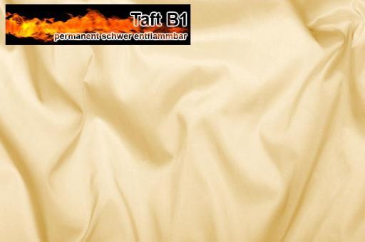 Taft - permanent schwer entflammbar B1 - Champagner Champagner