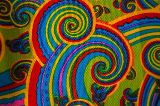 Universalstoff - Fraktal Hippie - Hellgrün