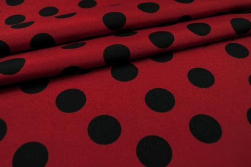 Universalstoff - Punkte - Rot/Schwarz