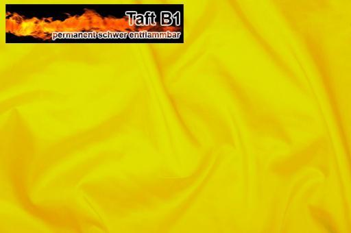 Taft - permanent schwer entflammbar B1 - Gelb Gelb