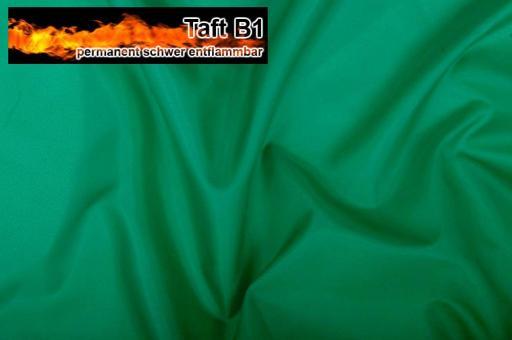 Taft - permanent schwer entflammbar B1 Grün