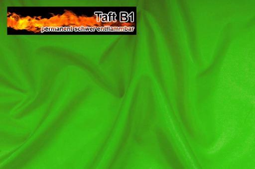 Taft - permanent schwer entflammbar B1 Hellgrün