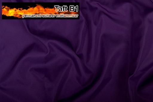 Taft - permanent schwer entflammbar B1 - Lila Lila