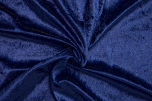 Pannesamt Stoff Weihnachten - uni - Nachtblau Nachtblau