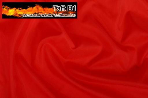 Taft - permanent schwer entflammbar B1 - Rot Rot