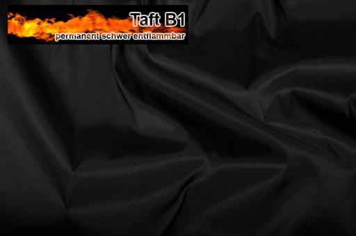 Taft - permanent schwer entflammbar B1 Schwarz
