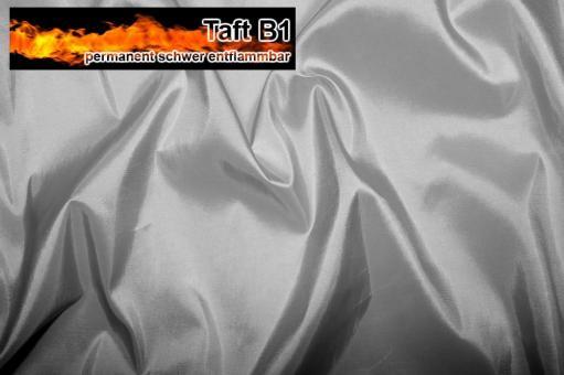 Taft - permanent schwer entflammbar B1 Silber