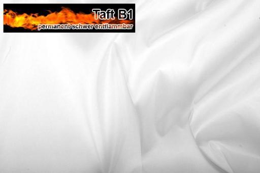 Taft - permanent schwer entflammbar B1 - Weiß Weiß
