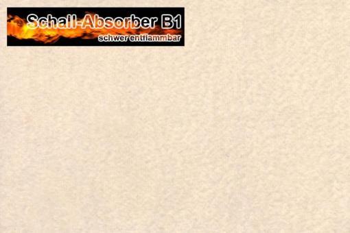 Schall-Absorber, schwer entflammbar - 300 cm breit - Sand