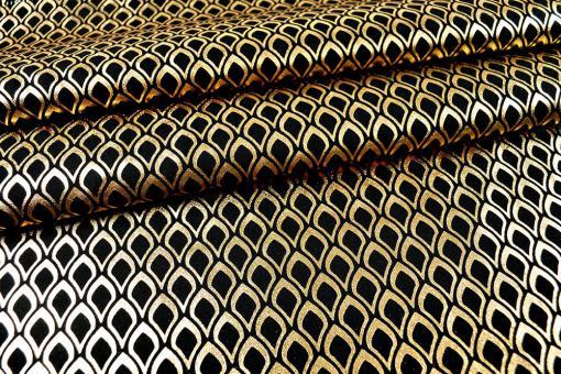 Effektstoff Orient - Schwarz/Gold