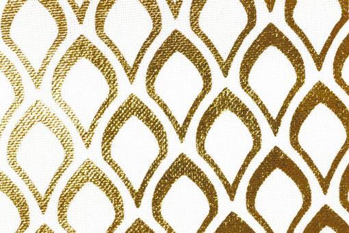 Effektstoff Orient - Weiß/Gold